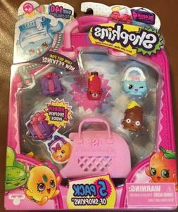 Shopkins Pretend Play set Gifts for Girl Kids 5 Pack Season