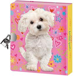 Peaceable Kingdom Puppy Love Lock and Key Diary