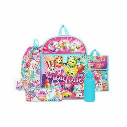 Shopkins Rainbow Backpack 5-Piece Set Back to School Essenti