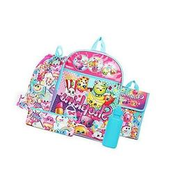 Shopkins Rainbow Backpack Back to School 5 Piece Essentials