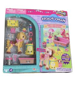 Rare New Shopkins Happy Places Pampered Pony Stable Poni Cru