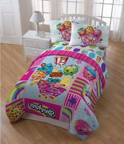 Shopkins REVERSIBLE COMFORTER Twin- Full Bedding Girls Set N