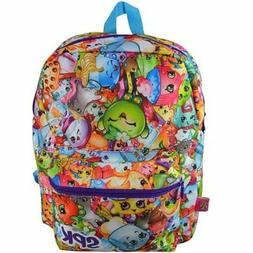 "Shopkins Girl's Kids 16"" Large School Backpack All Over Prin"