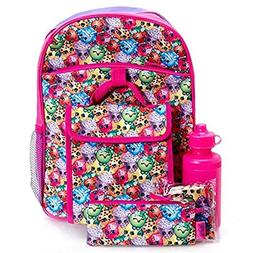 "Shopkins Kids 5 Piece School Backpack Set - 16"" Backpack, In"