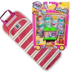 EASYVIEW Season 8 Shopkins 12-Pack Toy Organizer Case Bundle