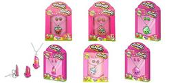 Shopkins 2pc Jewelry Set x 6 sets: Matching Necklace and Ear