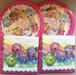 Shopkins 16 Party Plates And  32 Napkins