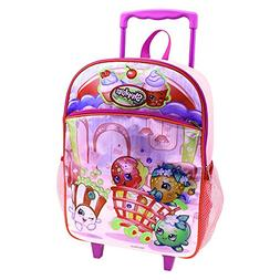 Shopkins 16 Girls Rolling Backpack