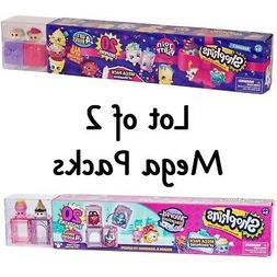 Shopkins 20pc MEGA PACKS ~ Lot of 2 ~ Join the Party & World