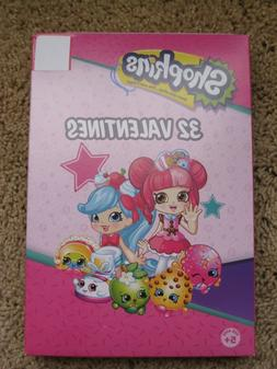 SHOPKINS 32 VALENTINES DAY CARDS NEW IN PACKAGE