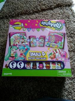 SHOPKINS  GAME  COLLECTOR'S EDITION Includes 8 Shopkins NEW!