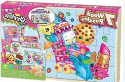 shopkins 7 wood puzzle pack new