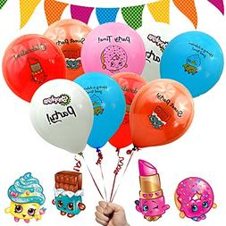 "Shopkins Birthday Party Decorations Favors Balloons 12"" Prin"