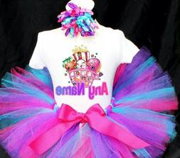 Shopkins Birthday Tutu Outfit Birthday Dress Up Custom Any N