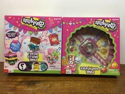 Shopkins Board Game x2  Pop N Race and Secret Sweets Games