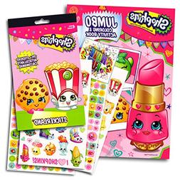 Shopkins Coloring Activity Book With Stickers Set Bundle wit
