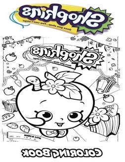 shopkins coloring book kids adults activity fun easy relaxin