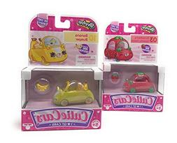 Shopkins Cutie Cars 03 Strawberry Speedy Seeds and 10 Banana