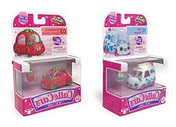 Shopkins Cutie Cars 03 Strawberry Speedy Seeds and 19 Milk M