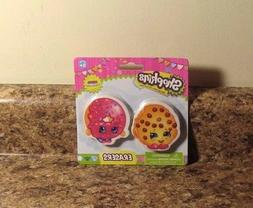 Shopkins Erasers 2 Pack Set D'Lish Donut Kooky Cookie School