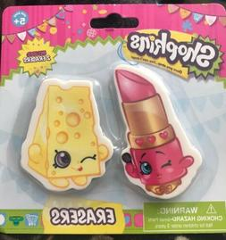 SHOPKINS ERASERS SET 2 Pack LIPPY LIPS & CHEE ZEE Moose LTD