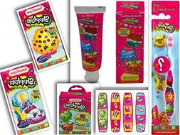 Shopkins Health & Oral Care 5 Item Bundle: 1 Toothbrush w/Co