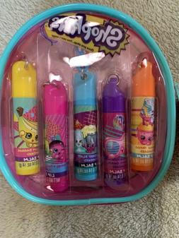Shopkins Lip Balm Scented 5 Pack Interchangeable Keychain An