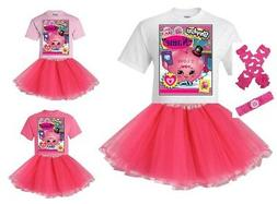 """""""Shopkins Love You"""" Personalized T-Shirt and Pink Tutu Se"""