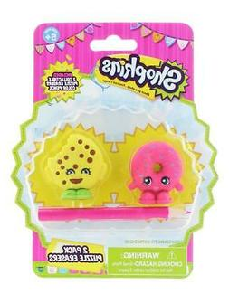 Shopkins 2-Pack Mini Figure Puzzle Erasers with Pencil Schoo