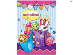 SHOPKINS Party Invitations 8 Per Package With Envelopes Birt