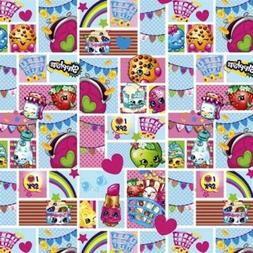 Shopkins Patch Party Toy Characters in Squares Cotton Fabric