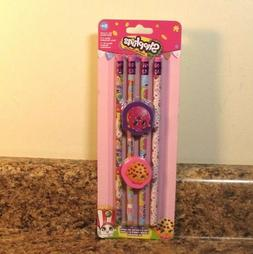 Shopkins Pencil Eraser Set School Supplies NEW