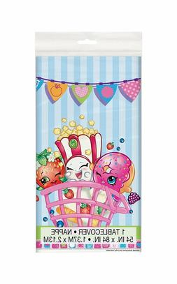 Lot of 2 Unique Shopkins Plastic Tablecloth, 84 x 54