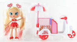 Shopkins Real Littles Stacey Cakes Shoppies Doll with Icy Tr