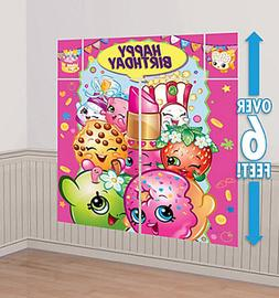 shopkins scene setter happy birthday party wall