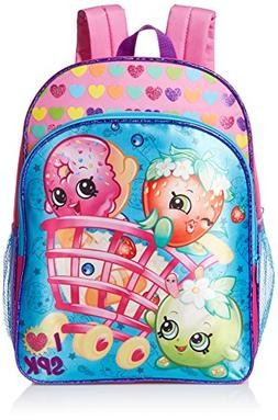 "Shopkins Girls 16"" Large School Backpack Book Bag"