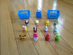 Shopkins - Season 1 - 12 Pack Lot with Baskets and Bag - 4 P