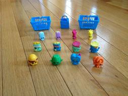 Shopkins - Season 1 - 12 Pack Lot with Baskets and Bag - 7 R