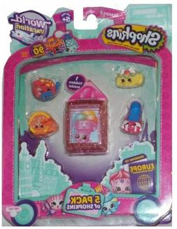 SHOPKINS SEASON 8  EUROPE WORLD VACATION 5 PC. PACK
