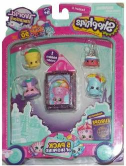 SHOPKINS SEASON 8  EUROPE WORLD VACATION 5 PC. PACK # 2