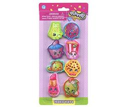 Shopkins 8pk Shaped Eraser on Card