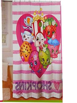 Shopkins Shower Curtain Kids Bathroom 72x72