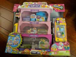 Shopkins Tall Mall Carrier Playset w/ 4 Exclusive Shopkins &