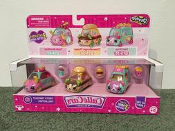 "SHOPKINS  ""TASTY TAKEOUT""  COLLECTION 3-MINI CUTIE CARS"