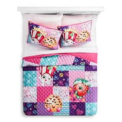 Shopkins Twin Quilt and Sham, 100% Polyester, super soft, ne