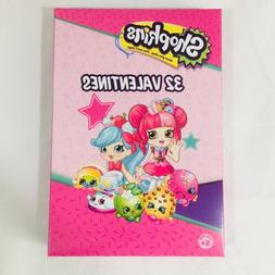 Shopkins Valentines Day Cards Kids Package 32 Cards 8 Fun De
