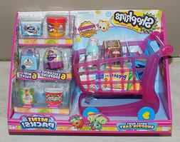 SHOPKINS SMALL MART PINK SHOPPIN' SHOPPING STORE CART 6 MINI
