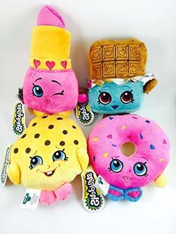 Official Shopkins Soft Plush Character Toy - Set of 4 - 8.5""