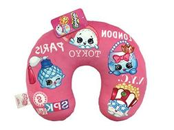 "Shopkins Squad Pink Plush 11"" x 13"" Neck Pillow with Poppy C"