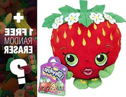 "Strawberry Kiss: ~6"" Shopkins Plush + 1 FREE Japanese Food T"